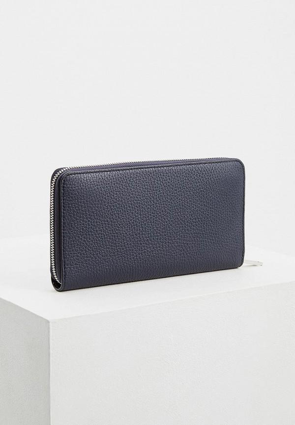 Фото 2 - мужской кошелек или портмоне Boss синего цвета