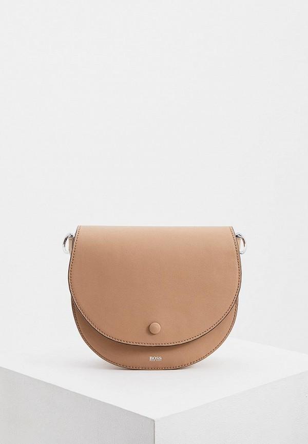 женская сумка hugo boss, бежевая