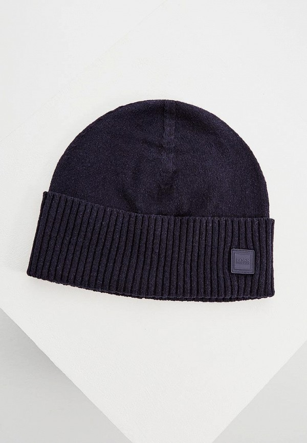 мужская шапка hugo boss, синяя