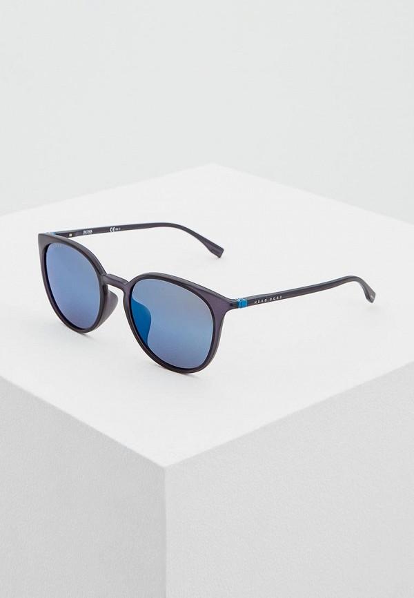 мужские солнцезащитные очки hugo boss, синие