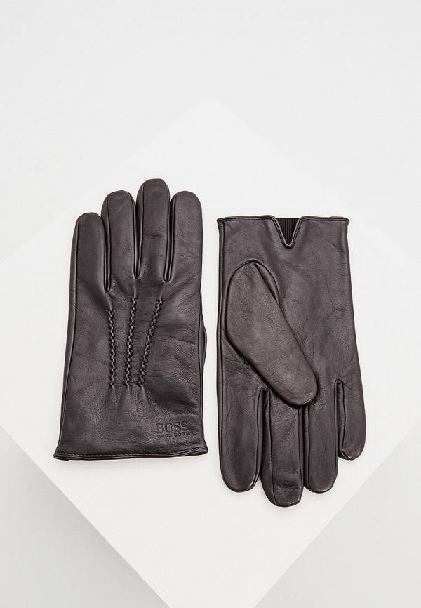 мужские перчатки hugo boss, черные