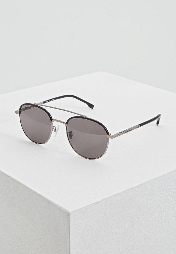 мужские солнцезащитные очки hugo boss, серебряные
