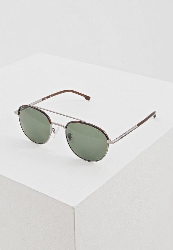 мужские солнцезащитные очки hugo boss, коричневые