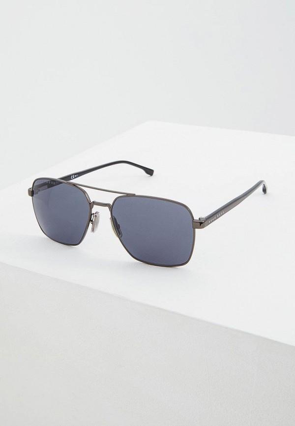 мужские солнцезащитные очки boss, серебряные