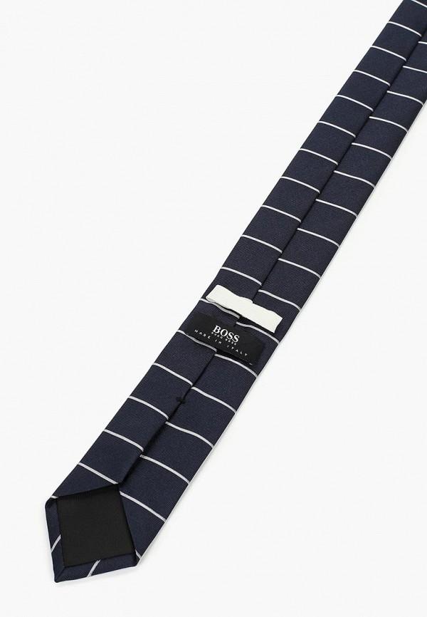 Фото 2 - мужской галстук Boss синего цвета