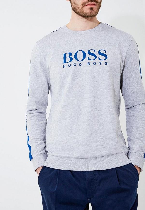 Фото - Свитшот Boss Hugo Boss серого цвета