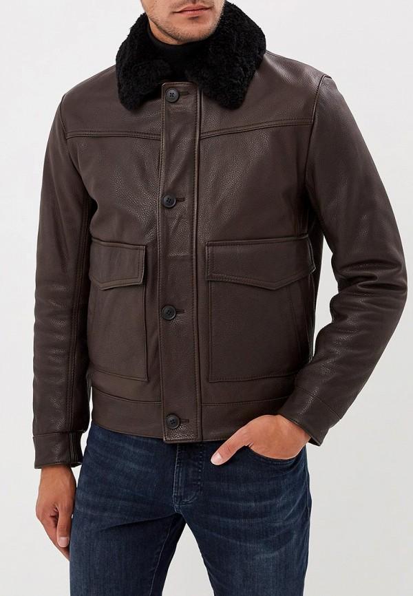 Купить Куртка кожаная Boss Hugo Boss, bo010embujx7, коричневый, Осень-зима 2018/2019