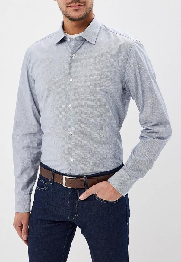 мужская рубашка с длинным рукавом hugo boss, серая