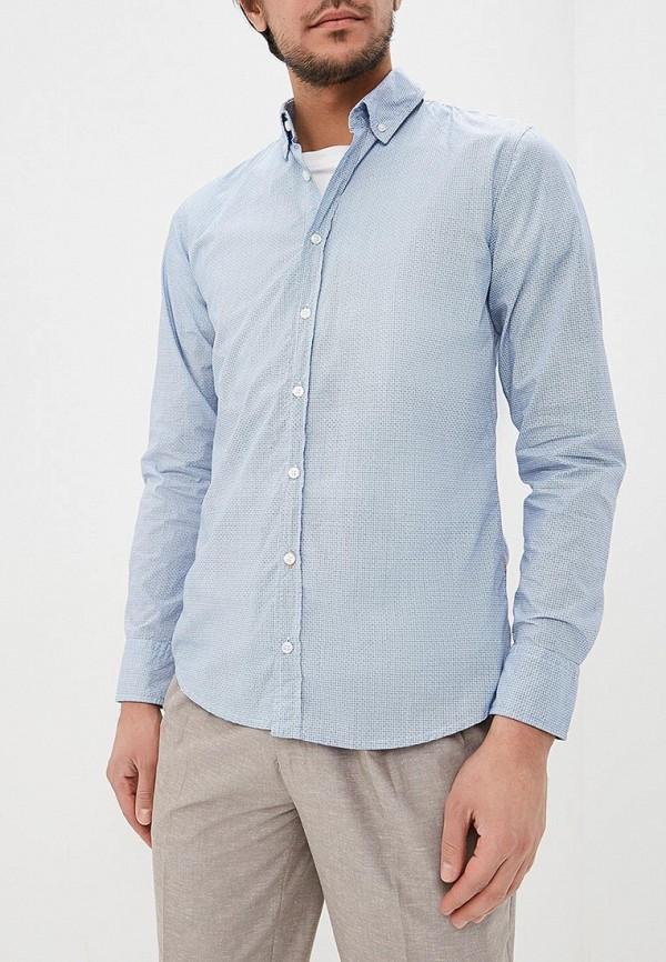 Фото - мужскую рубашку Boss Hugo Boss голубого цвета