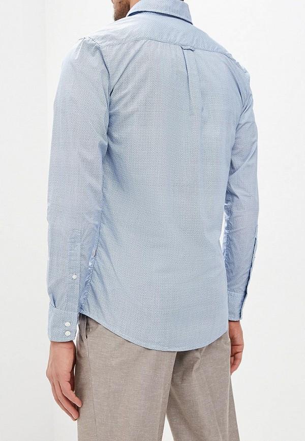 Фото 3 - мужскую рубашку Boss Hugo Boss голубого цвета