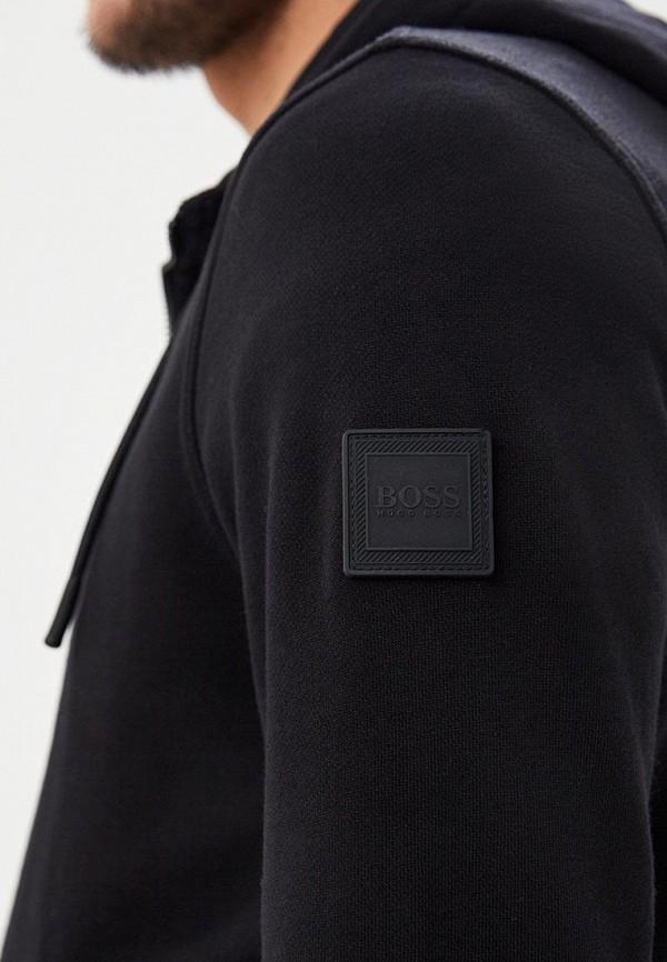 Фото 4 - мужскую толстовку Boss черного цвета