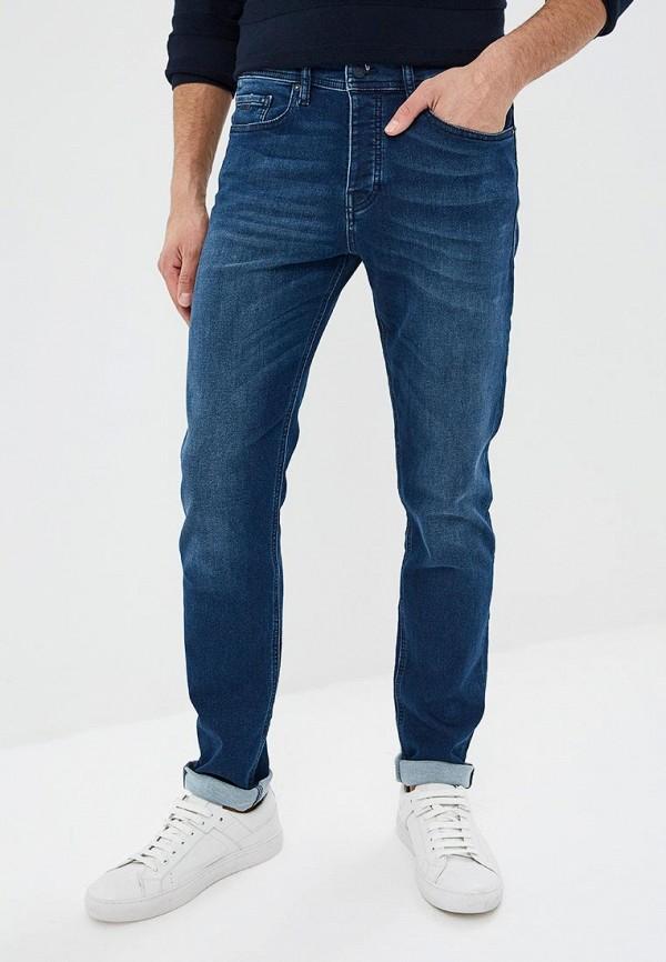 мужские зауженные джинсы hugo boss, синие