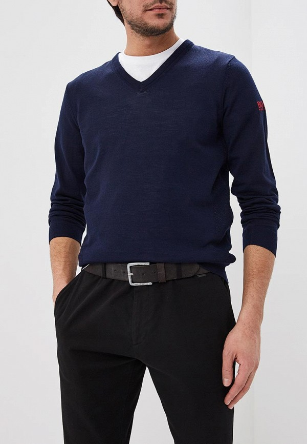 мужской пуловер hugo boss, синий