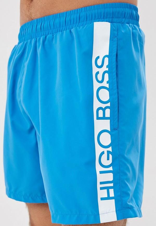 Фото 3 - Шорты для плавания Boss голубого цвета