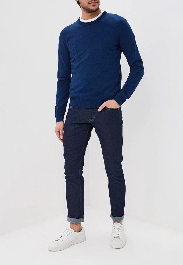 Фото 2 - мужское джемпер Boss Hugo Boss синего цвета