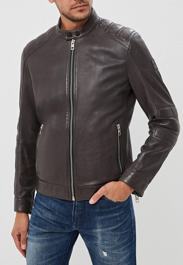 Куртка кожаная Boss Hugo Boss Boss Hugo Boss BO010EMFDIV4