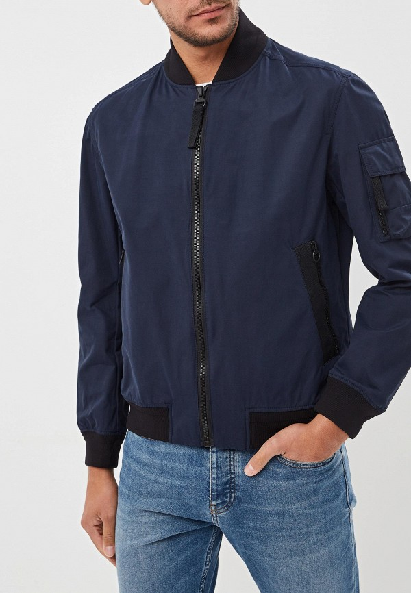мужская куртка hugo boss, синяя