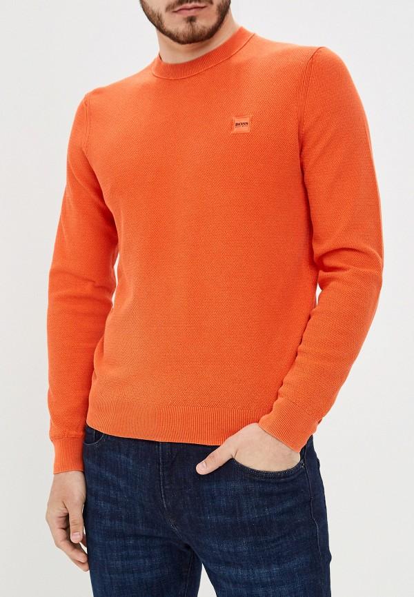 мужской джемпер hugo boss, оранжевый