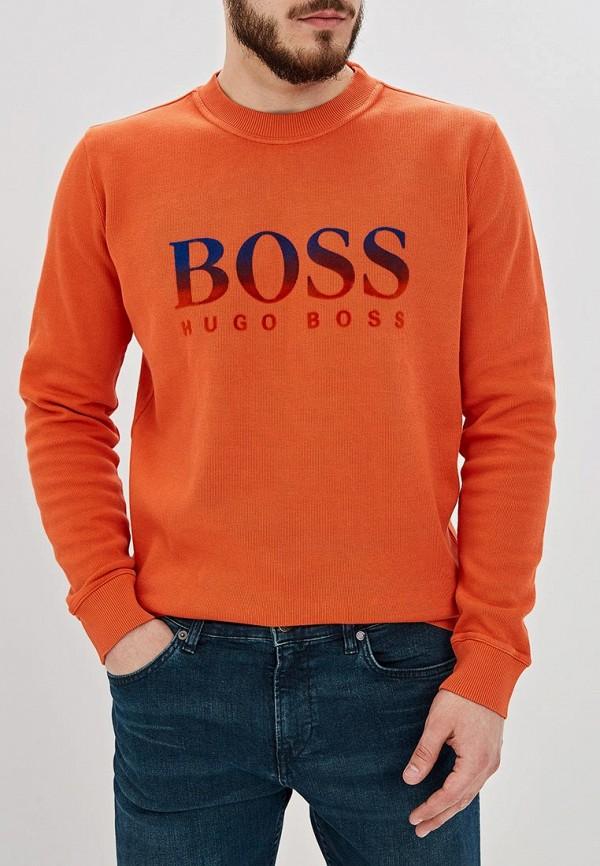 мужской свитшот hugo boss, оранжевый