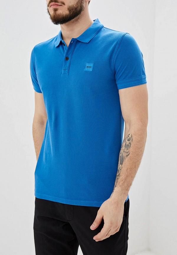 мужское поло hugo boss, синее