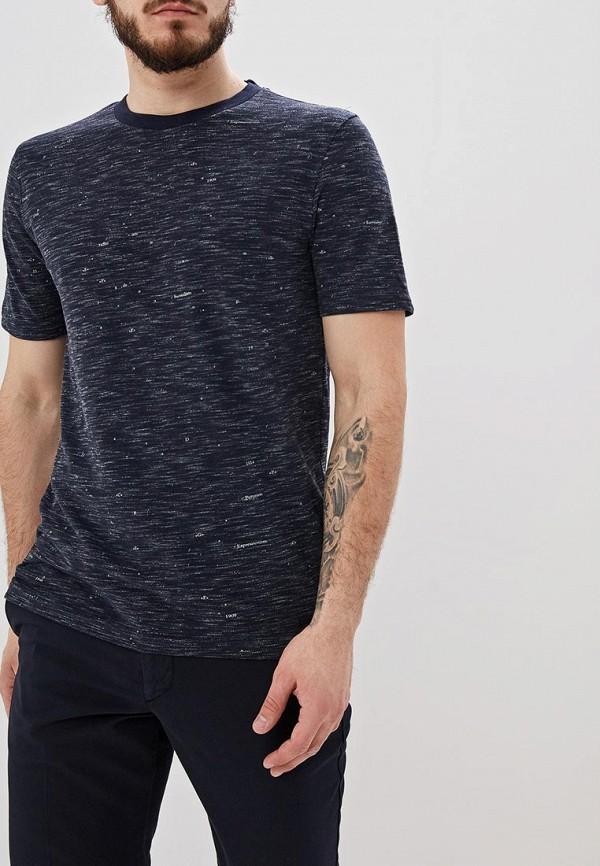 мужская футболка boss, синяя