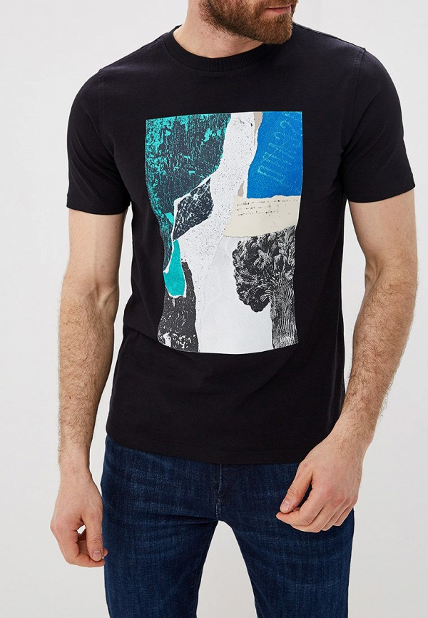 Фото - мужскую футболку Boss черного цвета