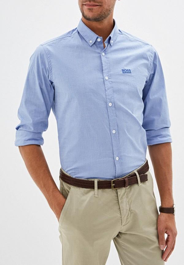 мужская рубашка с длинным рукавом hugo boss, голубая