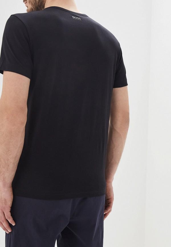 Фото 3 - мужскую футболку Boss черного цвета