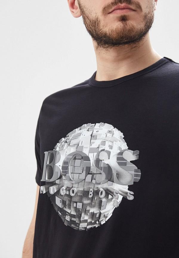 Фото 4 - мужскую футболку Boss черного цвета