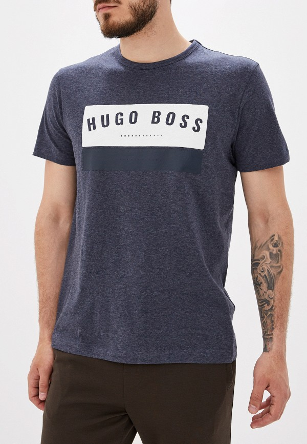 мужская футболка hugo boss, серая