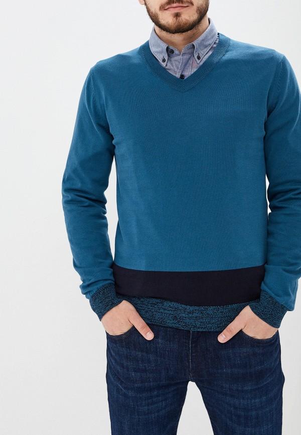 мужской пуловер hugo boss, бирюзовый