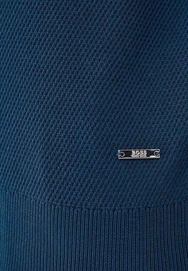 Фото 4 - Поло Boss бирюзового цвета