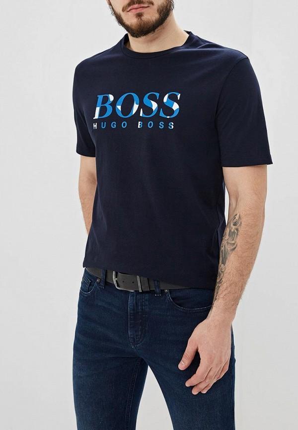 мужская футболка hugo boss, синяя