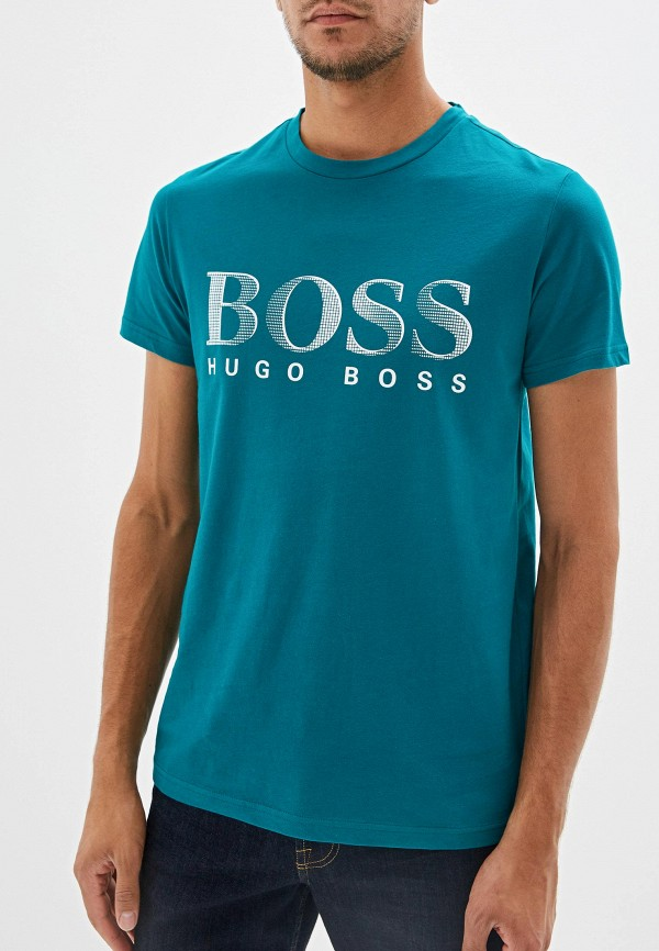 мужская футболка hugo boss, зеленая