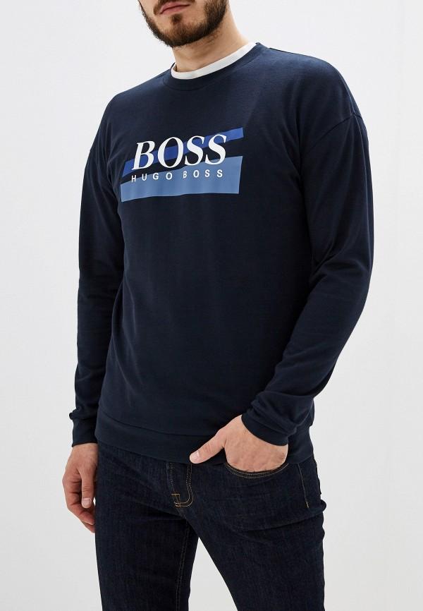мужской лонгслив hugo boss, синий