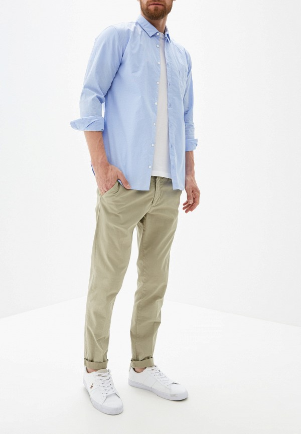 Фото 2 - мужскую рубашку Boss Hugo Boss голубого цвета