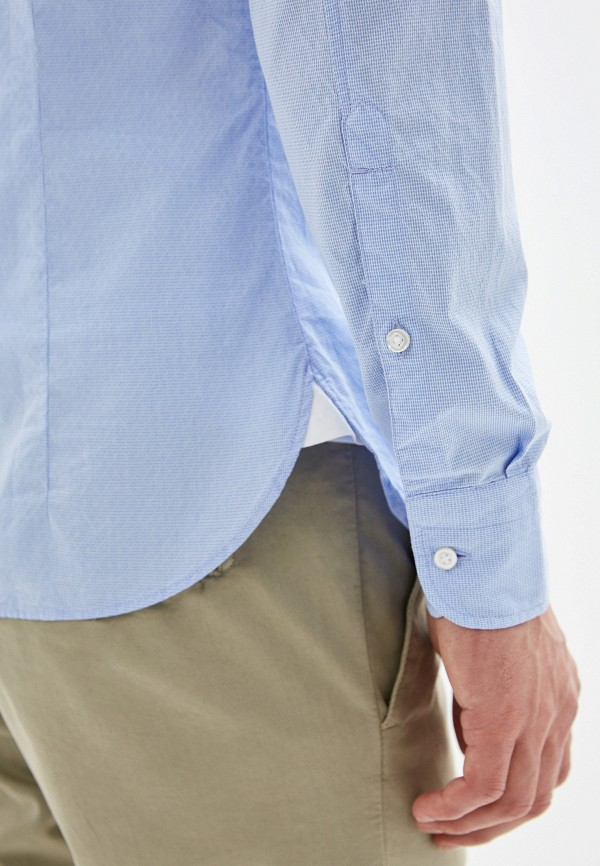 Фото 4 - мужскую рубашку Boss Hugo Boss голубого цвета