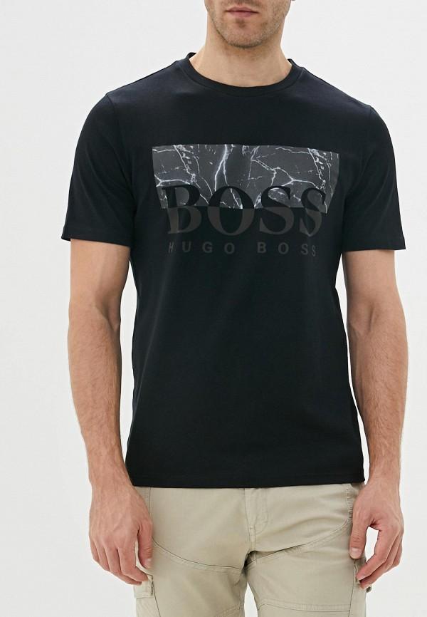 мужская футболка boss, черная