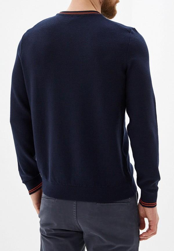 Фото 3 - мужское джемпер Boss Hugo Boss синего цвета