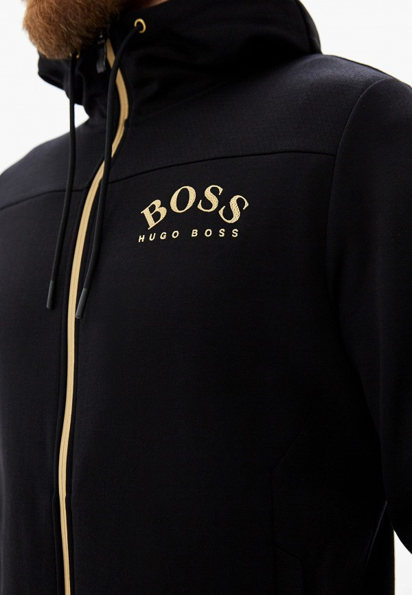 Фото 4 - мужскую толстовку Boss Hugo Boss черного цвета