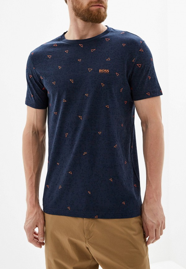 Фото - мужскую футболку Boss Hugo Boss синего цвета