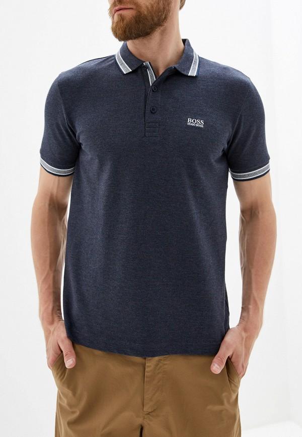Фото - мужское поло Boss Hugo Boss синего цвета