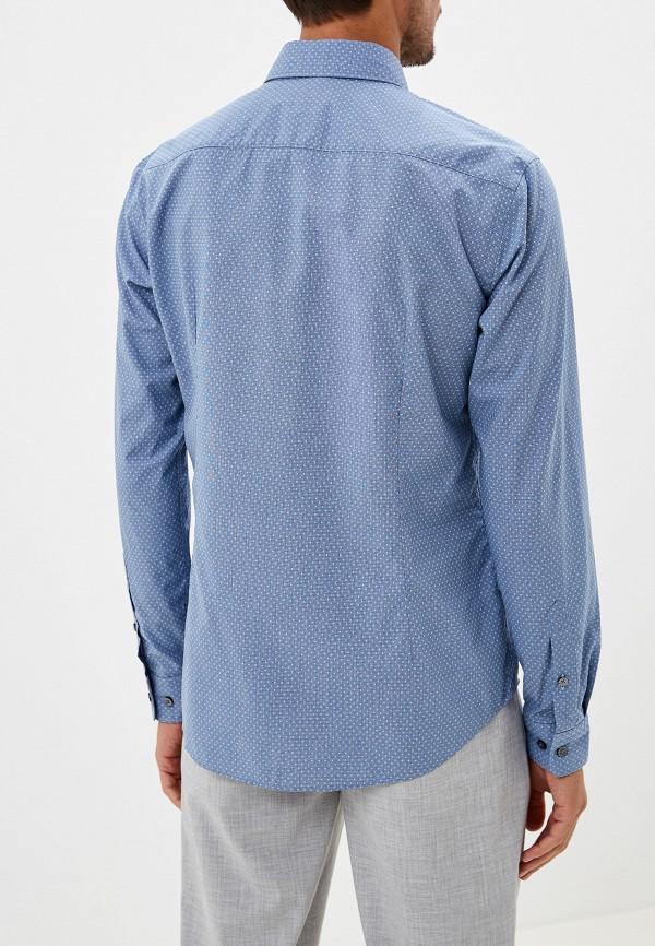 Фото 7 - мужскую рубашку Boss голубого цвета