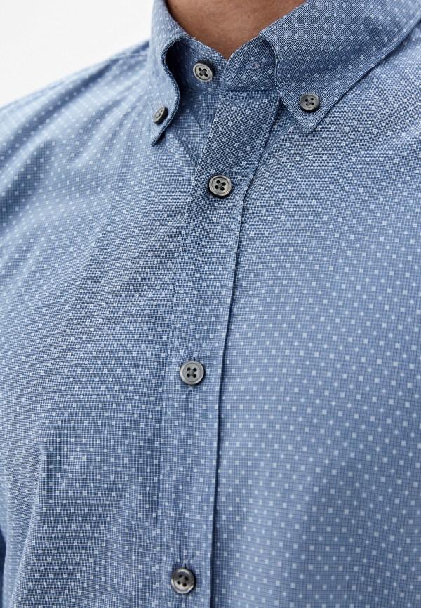 Фото 4 - мужскую рубашку Boss голубого цвета