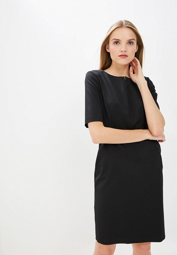 женское платье-футляр hugo boss, черное