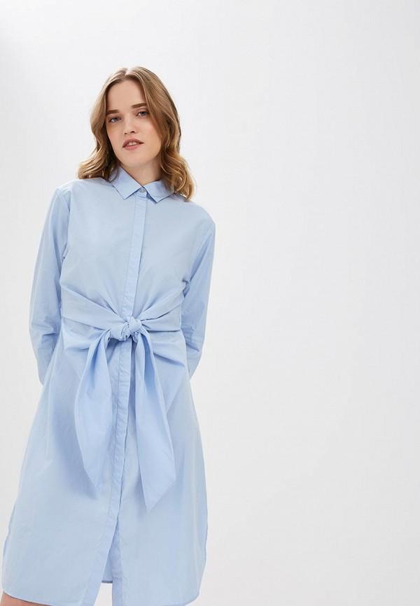 женское платье hugo boss, голубое