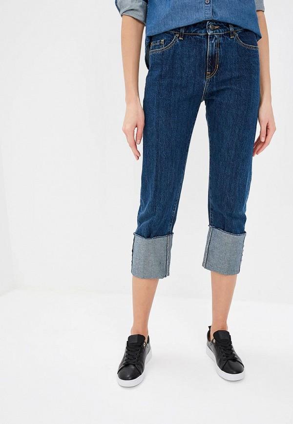 женские джинсы бойфренд hugo boss, синие