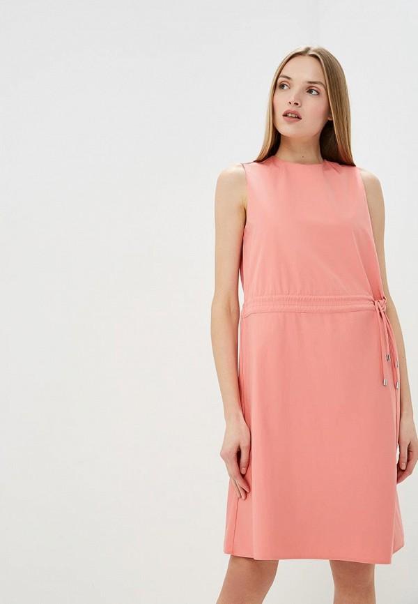 женское повседневные платье hugo boss, розовое