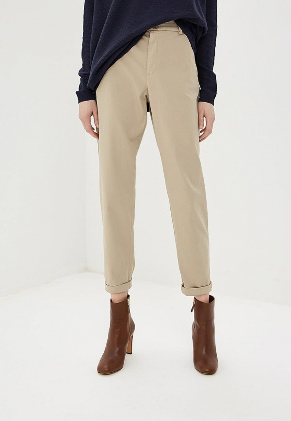 женские брюки boss, бежевые