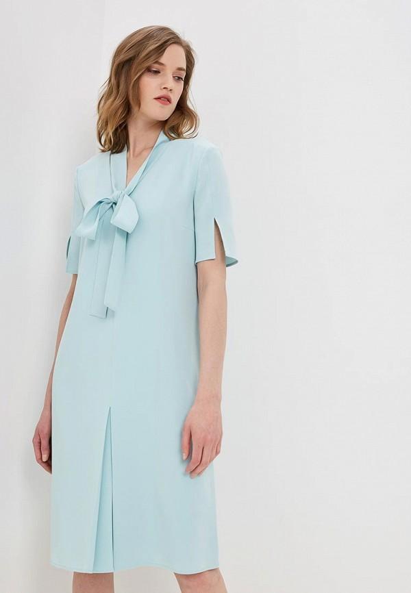 женское повседневные платье boss, голубое